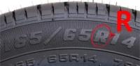 Что же означает злополучная буква R на шинах